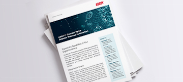 Artificial intelligence for RPA - ABBYY PDF