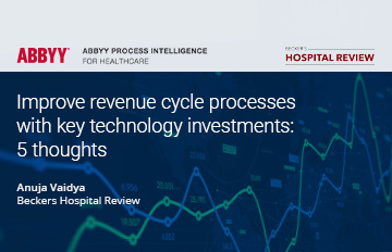 improve revenue cycle processes with key technology  - ABBYY eBook